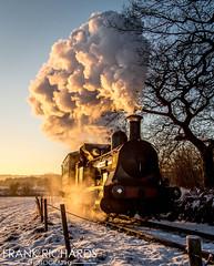 Bellerophon | Foxfield Bank | 29th Dec '14 (Frank Richards Photography) Tags: bellerophon | foxfield bank 29th dec 14 december 2014 steam charter staffordshire moorlands dilhorne railway canon industrail train sunrise