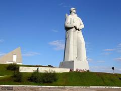 Arctic Defender (Mahmoud R Maheri) Tags: alyoshamonument murmansk russia arctic statue colossal soldier arcticdefender monument daylight sky
