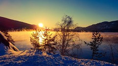A wonderful wintermorning in Norway today. (aupetter) Tags: snow sun ice nature landscape norway hdr sunrise winter