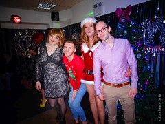 XMas 2018 4 (eileen_cd) Tags: redhead xmas th club chocker dress crossdresser transvestite cd tv