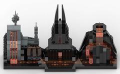 Lego Star Wars - Mustafar Skyline MOC (Top View) (BenBuildsLego) Tags: lego star wars legos skyline architecture mustafar rogue one revenge sith darth vader vaders castle lava volcano mining mine prequels spooky bricks toy toys studio bricklink micro microscale