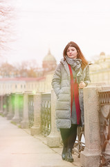 Iraida (Shumilinus) Tags: 2018 85mmf18 autumn buildings girls iraida nikond300s people portrait saintpetersburgrussia street women city cityscape scarf