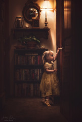 Exploring Grandma's House ({jessica drossin}) Tags: jessicadrossin portrait toddler child light door dark house grandma kid girl baby home wwwjessicadrossincom