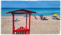 The  Life Guard (plismo) Tags: plismo varadero matanzas cuba beach sand color red lifeguard hotel blue hotellosdelfines losdelfines