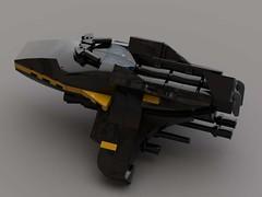 Hound Microfighter v2 (FraG - OutOfTheBox) Tags: microscale legomicroscale legoscifi legospace microspacetopia legomoc lego
