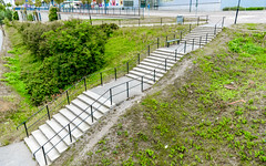 Steps with Railing Outside (josve05a_at_Wikimedia) Tags: stairs stone pathway steps travel environment green outdoor grass outside path staircase sweden nobody climbingstairs railings nacka stockholmslän sverige se