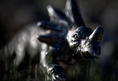D for Dino (johnsinclair8888) Tags: macromondays bokeh macro dinosaur doorknob nikon d850 affinityphoto art closeup 105mm thefirstletterofmysurname