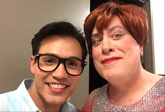 Day 2490: Day 300: with Tony (knoopie) Tags: 2018 october iphone picturemail friend theater casavalentina ericksontheatre tony jonathan miranda doug knoop knoopie me selfportrait 365days 365daysyear7 year7 365more day2490 day300