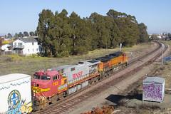Red and Silver into Richmond (imartin92) Tags: pinole california bnsf railroad railway freight train ge generalelectric dash9 c449w locomotive