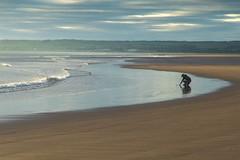 Beach morning 1 (Marion McM) Tags: beach sand sea coast tentsmuir figure landscape fife scotland canoneos760d 2019