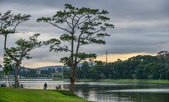 Lake scenery at sunset in Dalat, Vietnam (phuong.sg@gmail.com) Tags: asia asian attraction bush central cityscape dalat day full garden gardening gray green highlands indochina interest lake lamdong landmark landscape length life many orange outdoors park pathway place plant pond reflection scenery sightseeing style summer summerhouse tour tourism tourist travel tree vietnam visitor water yellow