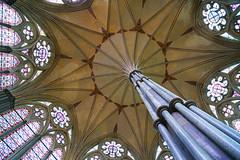 Pillar & vault, Salisbury Cathedral, UK (Andrey Sulitskiy) Tags: salisbury uk wiltshire england