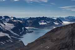 Descent to the Mikis Fjord (apcmitch) Tags: mountains moraine glaciers greenland fjords extreme eastgreenland2014 dolphin sonya7