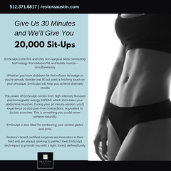 Give Us 30 Minutes and We Will Give You 20,000 Sit-Ups (Better Health For Everyone) Tags: emsculpt bodycontouring bodysculpting