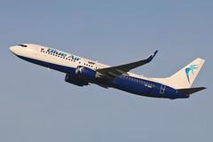 Boeing 737 YR-BMJ Blue Air (Jarco Hage) Tags: schiphol amsterdam ams eham byjarcohage aviation airplane vliegtuig aircraft vliegtuigen nederland netherlands airport boeing 737 yrbmj blue air