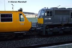 080+700 at Mullingar, 17/11/18 (hurricanemk1c) Tags: railways railway train trains irish rail irishrail iarnród éireann iarnródéireann 2018 generalmotors gm emd 071 mullingar 080 0951boylenorthwall trv em50 trackrecordingvehicle 700