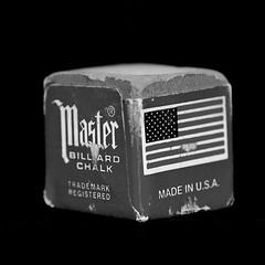 Macro Mondays - B&W Center Square - Billard Chalk (zendt66) Tags: zendt66 zendt nikon d7200 nikkor 60mm bw black white blackandwhite center square macromondays