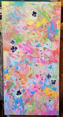 'Hope' (jesyka.hope) Tags: painting acrylicpainting acrylic acrylicpaint abstract abstractpainting mixedmedia glitter sparkly sparkle flowers floral driedflowers pansies colorful rainbow psychedelic abstractsurrealism