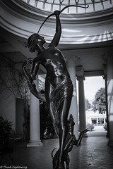 Diana the Huntress (Thad Zajdowicz) Tags: zajdowicz sanmarino california usa travel canon eos 5dmarkiii 5d3 dslr digital availablelight lightroom primelens 50mm ef50mmf12lusm creativecommons mythology female dianathehuntress dog bow nude art sculpture metal bronze