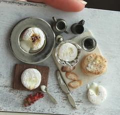 Baked Camembert (fairchildart) Tags: polymerclay dollhouse miniature food baked camembert cheese fairchildart