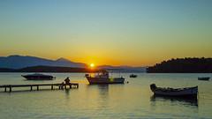 A Greek Sunrise ( Lefkas - Nidri Bay) Canon EOS 7D DSLR (markdbaynham) Tags: greece greek hellas hellenic lefkas lefkada grecia greka sky view canon canonite eos 7d eos7d canon7d apsc dslr landscape ionian island greekisland greekholiday