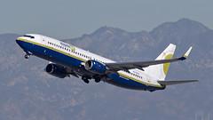 085A4491 Miami Air 737-8Q8 N739MA departing KLAX RWY 25L. (midendian) Tags: klax lax airport aircraft airplane losangelesinternational b738 737800 b737 miamiair miamiair737 n739ma