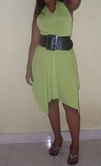SDC12941 (ikat.bali) Tags: belt leather leder gürtel breitegürtel fashion fetish frau fotomodell sexy amateur lady girl dress kleid