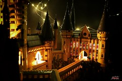 Hogwarts with lights 1 (psychosteve-2) Tags: hogwarts castle harry potter lego bricks architecture tower building