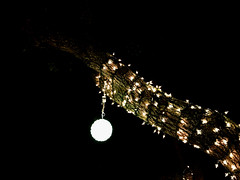 The Bright Orb (Lux Llama Productions) Tags: christmas lights holiday holidays winter december jan january dec decor decorations decoration prop jesus usa us unitedstates florida bocaraton house suburb hot light led cool awesome santa sleigh reindeer deer trees tree orb