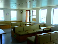 Inside Ferry Cabin (dimaruss34) Tags: newyork brooklyn dmitriyfomenko image greece antiparos ferry cabin seats windows ceiling