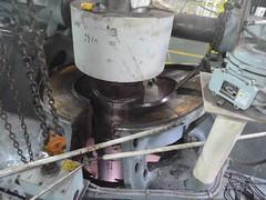 Resize of P1360517 (OpalStream) Tags: rudder marine vessel repair works overhauling workshop measurements filler gauge dirt