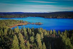 The lake Gimmen (Klas-Herman Lundgren) Tags: dalarna sweden gimmen autumn höst november forest trees lake sjö skog travel blue sverige drone sifferbo se