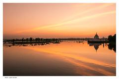 Taung Tha Man Lake (Laszlo Horvath.) Tags: myanmar burma nikond7100 sigma1835mmf18art sunset orange landscape