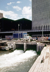 When the World Trade Center was completed in early 1973, the City of New York was in the midst of a major financial crisis and couldn't afford to connect the Twin Towers to the existing sewage system. Instead, the Hudson proved very convenient. July 1974 (wavz13) Tags: newyorkphotographs newyorkphotos urbanphotography urbanphotos newyorkphotography manhattanphotography manhattanskyline newyorkskyline newyorkskyscrapers manhattanskyscrapers urbanlife newyorklife lowermanhattan lowerwestside oldphotographs oldphotos 1970sphotographs 1970sphotos oldphotography 1970sphotography vintagephotographs vintagephotos vintagephotography filmphotos filmphotography oldnewyorkphotography oldnewyorkphotos vintagenewyork vintagemanhattan oldnewyorkphotographs oldworldtradecenter vintageworldtradecenter twintowers originalworldtradecenter analogphotography instamatic 126 126film squareformat newyorkskyscapers oldtrucks vintagetrucks 1960strucks batteryparkcity kodachrome oldcars vintagecars hudsonriver westsidehighway backintheday