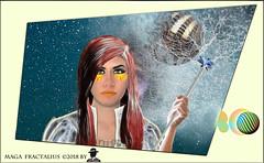 LA MAGA DEL FRACTALIUS (ADRIANO ART FOR PASSION) Tags: ritratto donna viso fractal fractalius portrait photoshop elaborazione magia adrianoartforpassion fantasy fantasia irreale studio nikon nikond90 35mm
