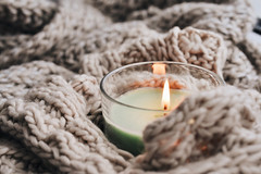 E2086AC1 (millenks) Tags: knitted candle candles home hygge cozy warm macro
