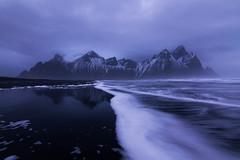 Vestrahorn Iceland (rossshevlin) Tags: iceland vestrahorn mountains seascape blacksandbeach leadinglines