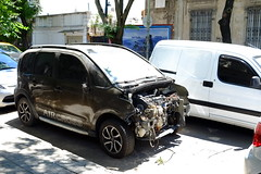 DSCF5817 (Adlestrop Images) Tags: street argentina latin america south car vehicle wreck auto
