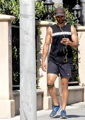DSCN2722 (danimaniacs) Tags: hot sexy man guy hat cap shorts mansolo beard scruff cellphone