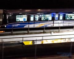 Panning A Mk I Running in the Vancouver Night (AvgeekJoe) Tags: britishcolumbia canada d5300 dslr icts importedkeywordtags innoviaart100 intermediatecapacitytransitsystem lightrail marki nikon nikond5300 skytrain train translink urbantransportationdevelopmentcorporationictsmarki vancouver masstransit masstransportation night nightphoto nightphotograph nightphotography nightshot panning publictransit publictransportation rail transit urbanrail