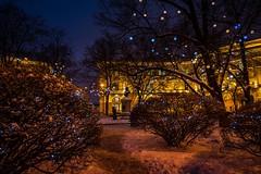 Place Lomonossov, Saint-Petersbourg (yvon.kerdavid) Tags: saintpetersbourg russie place jardin ville cité arbres illuminations décoration noël