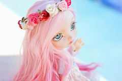 Ready for Summer ☆ (Shimiro Doll Photography) Tags: bjd doll dollphotography bjdphotography portrait nikon balljointeddoll custombjd toy pullip dolls toys cute kawaii yosd pastelgirl pastelfashion pastel lillycat cerisedolls toyphotography poulpy lillycatpoulpy cerisedollspoulpy