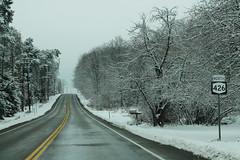 NY426 North Sign (formulanone) Tags: newyork snow ny426 426