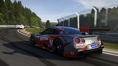 Forza Motorsport 6 (screenreel) Tags: forzamotirsport6 videogame microsoft gpu screenshot camera angle road racing car vechile competition spafrancochamps nissan nissangtr motion blur tree green sky day bright sun rearview spoiler stoplight