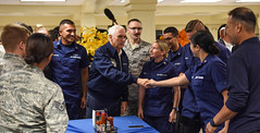 "Vice President of the U.S Michael Pence visits service members and their families at Andersen AB (#PACOM) Tags: ""usindopacificcommand usindopacom"" vicepresident whitehouse michaelpence andersenafb guam gu"
