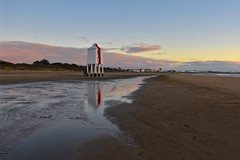 The Little Lighthouse (Nige H (Thanks for 15m views)) Tags: nature landscape beach sunset sky cloud lighthouse reflection sand burnhamonsea somerset england