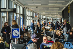 Busy Busy (yarnim) Tags: austin–bergstrominternationalairport austin texas airport gate southwest people sony a7iii a7m3 ilce7m3 sel85f18 faces expressions 85mm