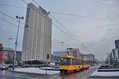1396 + 1395 - 4 - 21.12.2018 (VictorSZi) Tags: poland warsaw varsovia transport tram tramvai publictransport winter iarna december decembrie nikon nikond5300