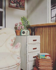 Moving into the beach cabin! First look of one of the corners :) (FreeRangeBarbie) Tags: diorama miniature onesixthscale dollhouse interior diy barbie blythe beach cabin rement