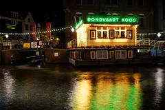"""Rondvaart Kooij"" (Eric Flexyourhead) Tags: rokin centrum amsterdam netherlands holland nederland rondvaartkooij city urban cityscape cityscene canal night longexposure water reflections sign lights neon neonlight sonyalphaa7 zeisssonnartfe35mmf28za zeiss 35mmf28"